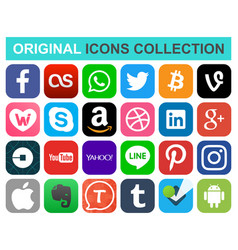 Popular social media and other icons vector
