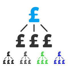 Pound financial structure flat icon vector