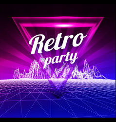 Retro party poster 1980 style vector