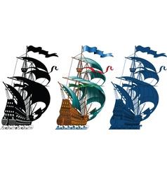 sailing ships vector image
