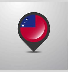 Samoa map pin vector