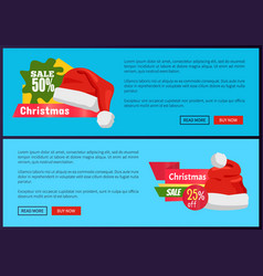 Santa claus hat 55 off sign on discount labels vector