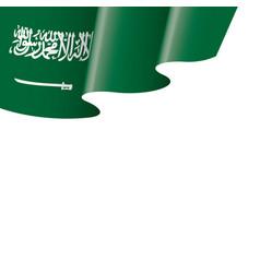 Saudi arabia flag on a white vector