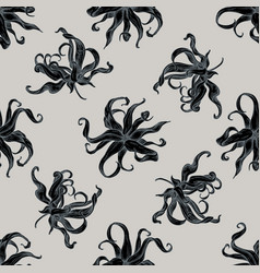 seamless pattern with hand drawn stylized ylang vector image