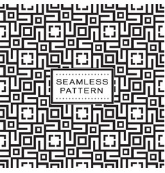seamless pattern with simple geometric concept vector image
