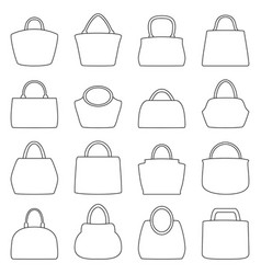 Set of bag icons vector