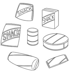 Set of snack vector