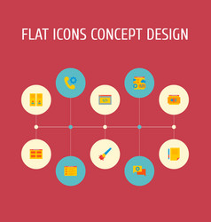 set of website icons flat style symbols with vector image