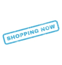 Shopping Now Rubber Stamp vector