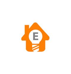 Smart home initial e vector