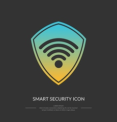 Smart protection connection the icon vector image vector image