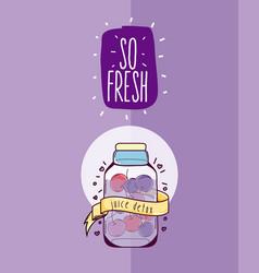 So fresh juice cartoon vector