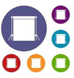 studio backdrop icons set vector image vector image