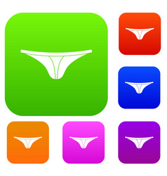 Thongs set color collection vector