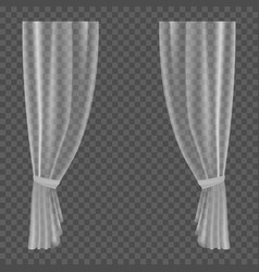 Transparent curtains lightweight clear drapery vector