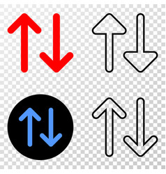 vertical exchange arrows eps icon with vector image