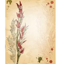 Vintage Floral Sketch vector