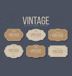 vintage labels and frames set design elements vector image