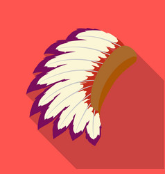 War bonnet icon in flate style isolated on white vector