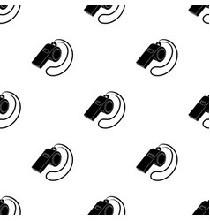 Whistle football fanfans single icon in black vector