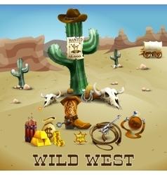 Wild West Background vector