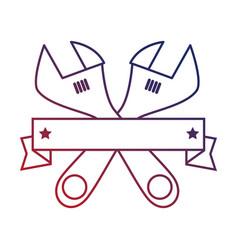 wrenchs labour day celebration emblem vector image