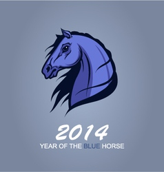 Year of the Blue Horse vector image