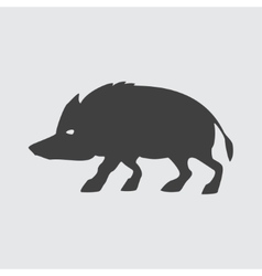 Boar icon vector