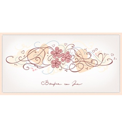 cute pink flowers vintage background vector image vector image