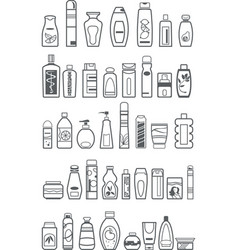 different cosmetic products vector image