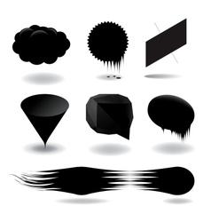 Fashion black speech bubble set vector image