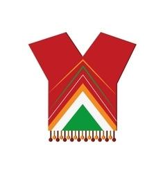 mexican poncho icon vector image