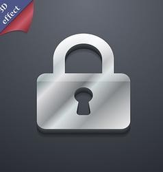 Pad Lock icon symbol 3D style Trendy modern design vector image vector image