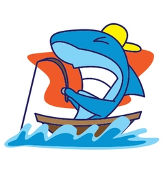 Shark Fishing vector image vector image