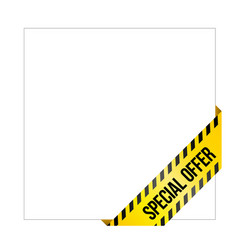 Yellow caution tape with words special offer vector