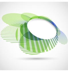 Bright green round advertisement template vector image vector image