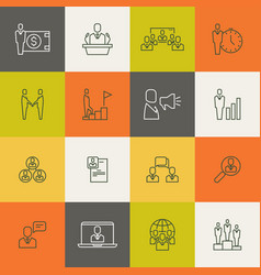 business people team relationship human vector image