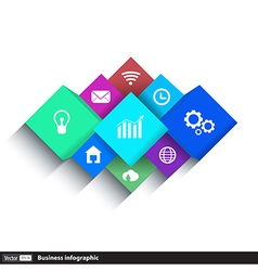 cube box for business concepts with icons vector image vector image