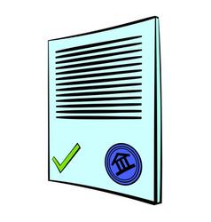 document icon cartoon vector image