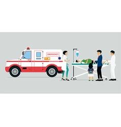 Emergency vehicles vector image vector image