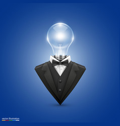 jacket with head lamps vector image vector image