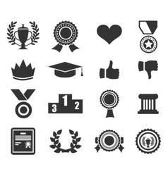 Trophy and prize symbol vector image vector image