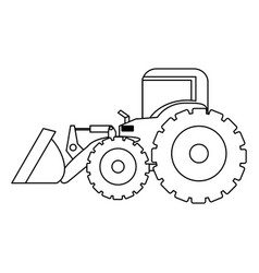 contour backhoe loader icon vector image vector image