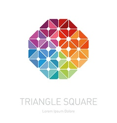 Design element with rhombus triangles and squares vector