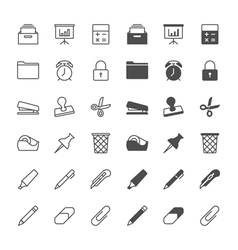 office supplies icons vector image