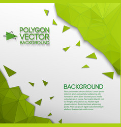 abstract geometric green and white background vector image vector image