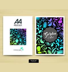cover annual report abstract garden design vector image