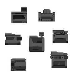 Dark printer icons vector image vector image