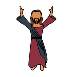 jesus christ catholic prayer vector image