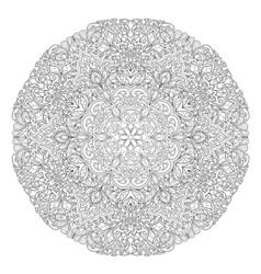 Round Mandala with hand-drawn decorative elements vector image